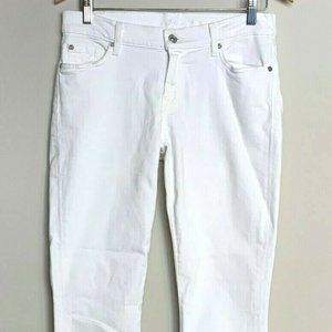7 for all Mankind The Skinny White Jeans 28 EUC